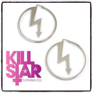 KILLSTAR x MARILYN MANSON Number 7 Hoop Earrings